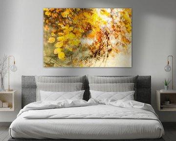 Wervelwindje door de bladeren, het is herfst van Margo Schoote