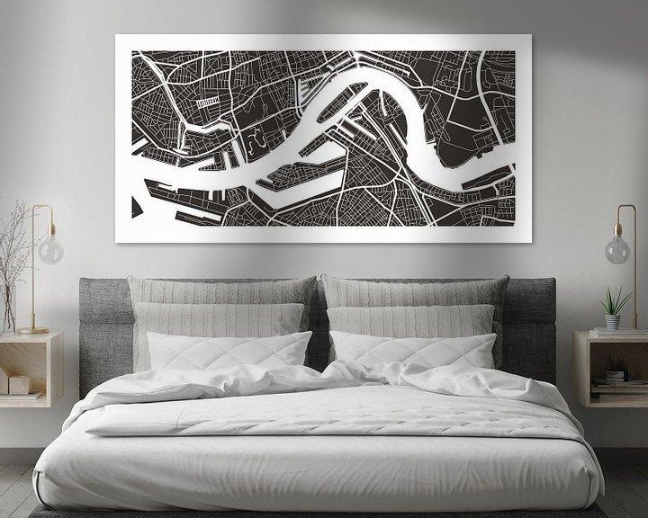 Sfeerimpressie: Rotterdam Retro - Map (bruin) van Christian de Leeuw