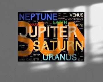 De Namen van het Zonnestelsel - versie 1: kleuren