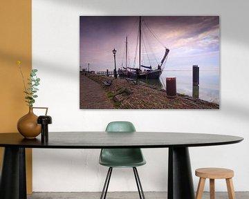 zeilschip aan de kade van Volendam van gaps photography