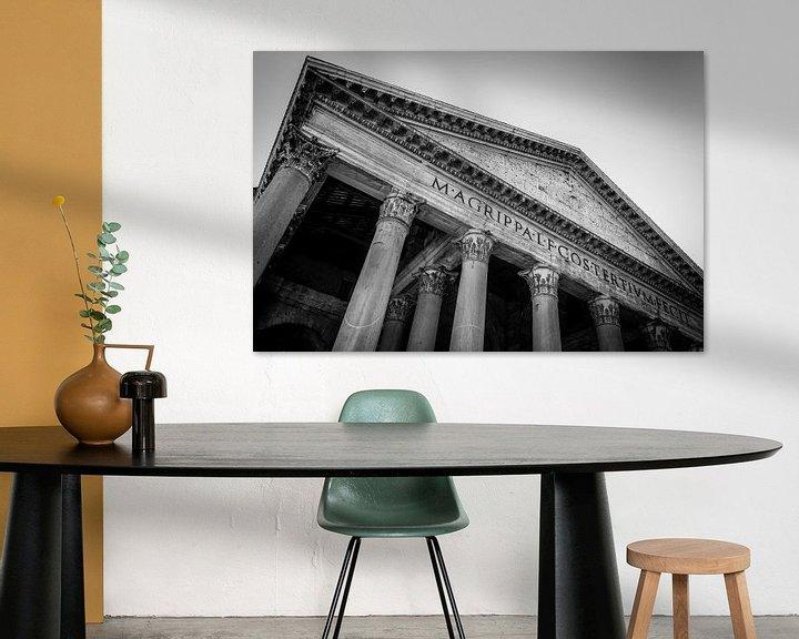 Sfeerimpressie: Rome   Romeins Pantheon   Zwart- Wit   Fine Art Photography van Alexander Mol