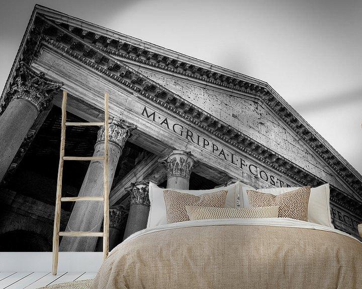 Sfeerimpressie behang: Rome   Romeins Pantheon   Zwart- Wit   Fine Art Photography van Alexander Mol