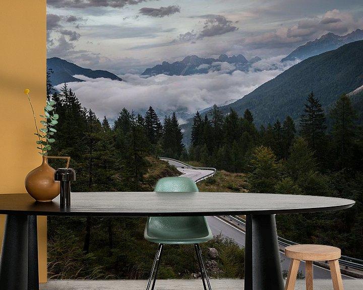 Sfeerimpressie behang: In de bergen van Wim Slootweg