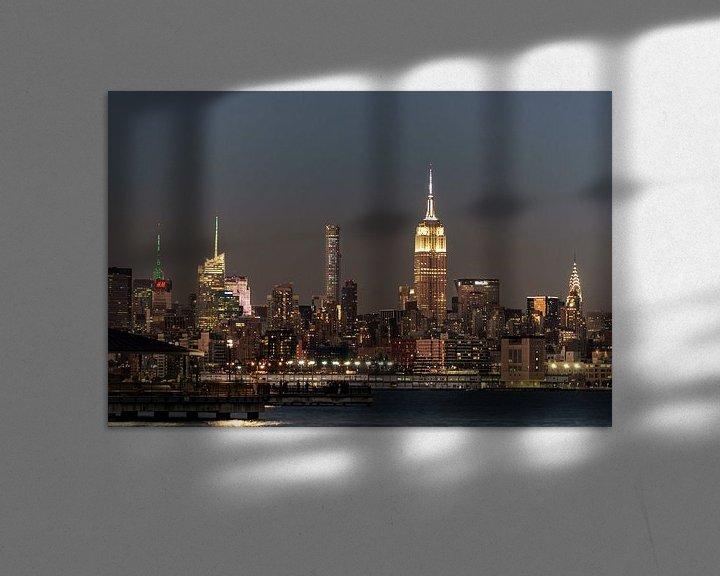 Sfeerimpressie: New York  im Abendlicht van Kurt Krause