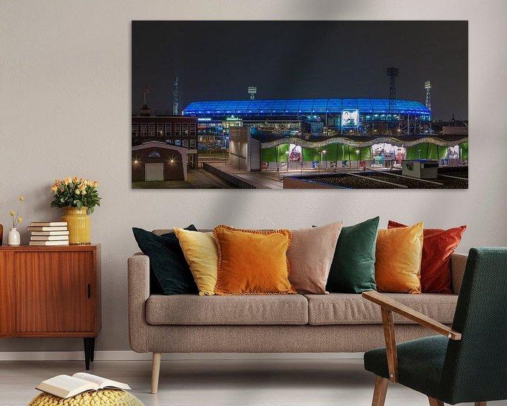 Sfeerimpressie: Feyenoord Rotterdam stadion De Kuip at Night - 20 van Tux Photography