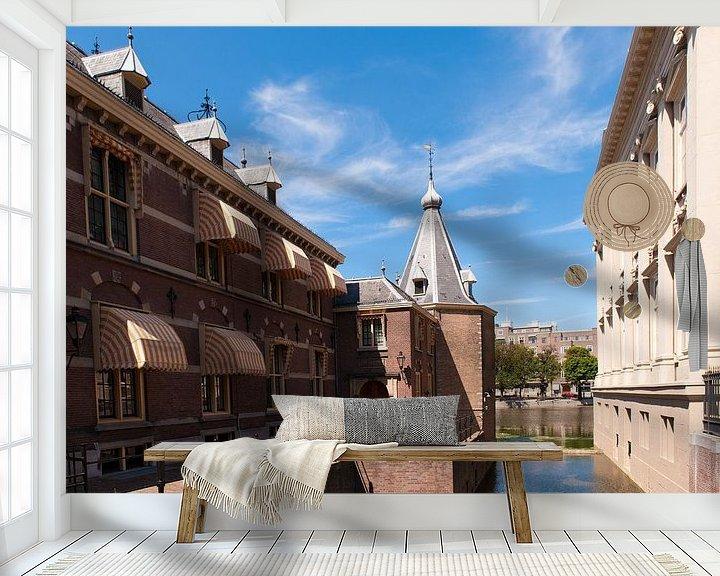 Sfeerimpressie behang: Den Haag torentje van Brian Morgan