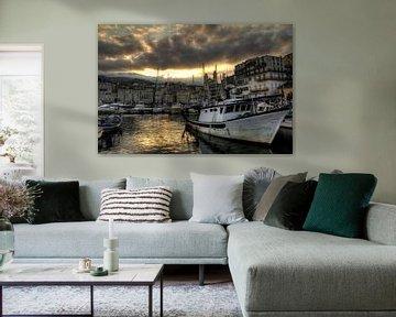 De haven van Bastia von Dennis van de Water