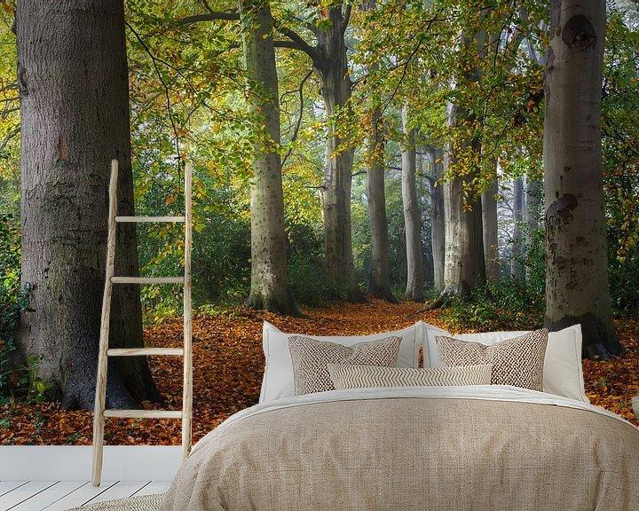 Sfeerimpressie behang: Herfst van Pim Leijen