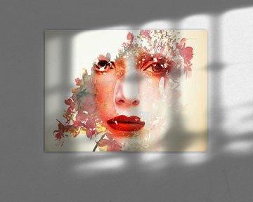 De vrouw met de hortensia van Gabi Hampe