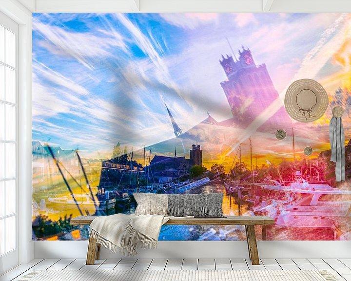Beispiel fototapete: Collage Dordrecht von John Monster