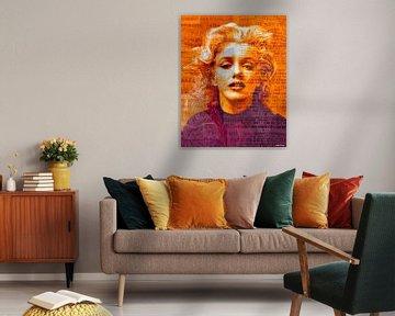 Marilyn Monroe Pop Art Canvas von Leah Devora