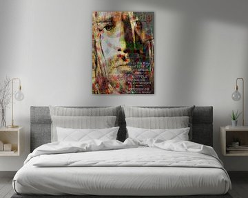 Kurt Cobain Pop Art Canvas von Leah Devora