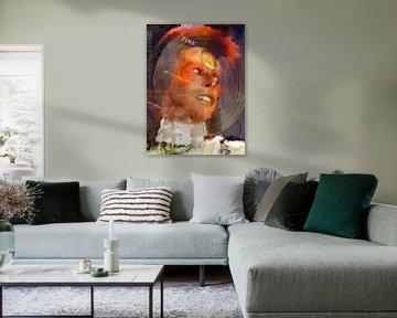 David Bowie pop art von Leah Devora