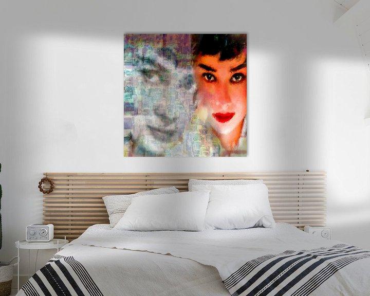 Beispiel: Audrey Freeway 2 Audrey Hepburn   Audrey Hepburn Pop  von Leah Devora