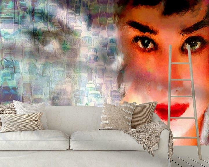 Beispiel fototapete: Audrey Freeway 2 Audrey Hepburn   Audrey Hepburn Pop  von Leah Devora
