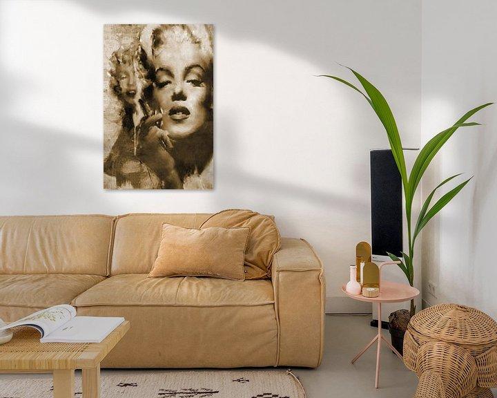 Beispiel: Marilyn Monroe Pop Art Canvas von Leah Devora
