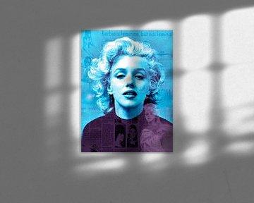 Marblue Marilyn Monroe | Marilyn Monroe Pop Art von Leah Devora