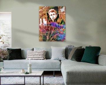 Dean Cart | James Dean Pop Art Canvas van Leah Devora