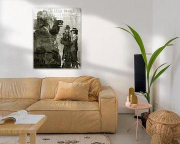 Casablanca Pop Art Canvas, Humphrey Bogart Pop Art, Ingrid Bergman Pop Art von Leah Devora
