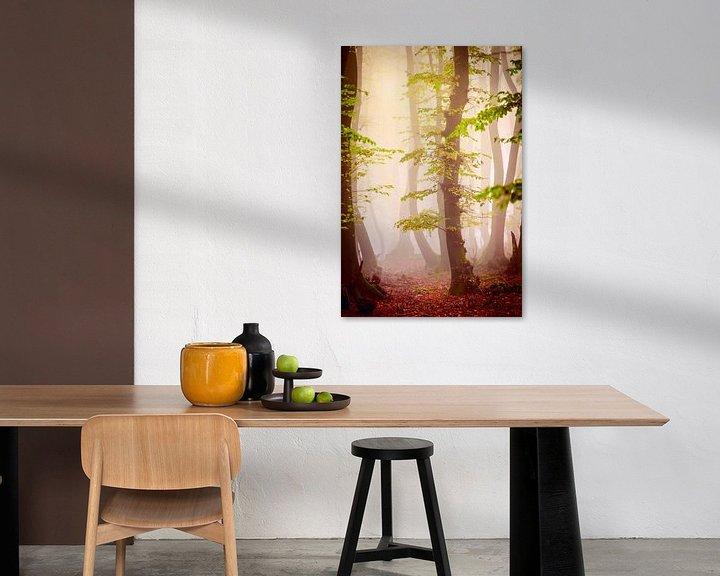 Sfeerimpressie: Herfstbos in de mist van Mark Scheper