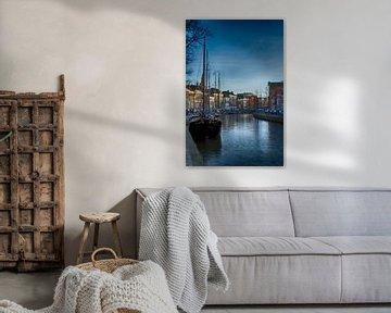 Het avondlicht streelt Groningen