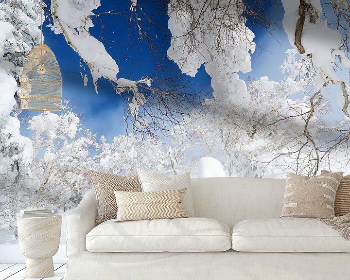 Beispiel fototapete: Pulverschnee in Kiroro, Japan von Menno Boermans