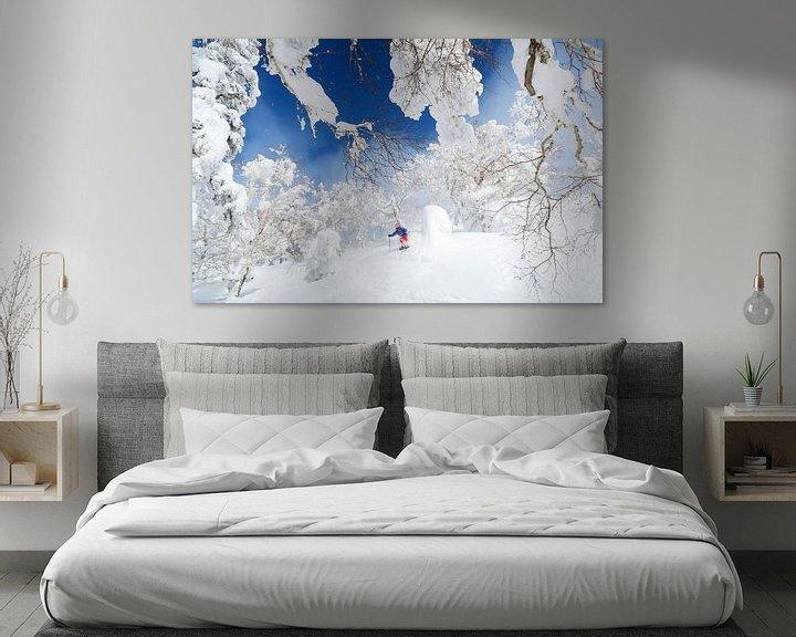 Beispiel: Pulverschnee in Kiroro, Japan von Menno Boermans