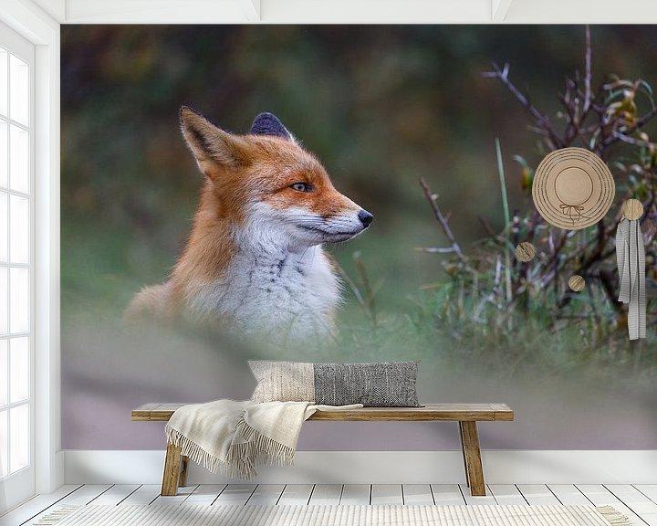 Sfeerimpressie behang: Portret van een vos van Pim Leijen