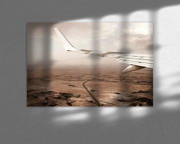 Uitzicht Marokko vanuit vliegtuig von Marloes Bogaarts