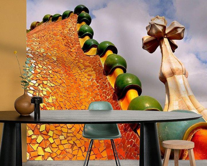 Sfeerimpressie behang:  Barcelona / Spanje / Casa Batlo / van Sabrina Varao Carreiro
