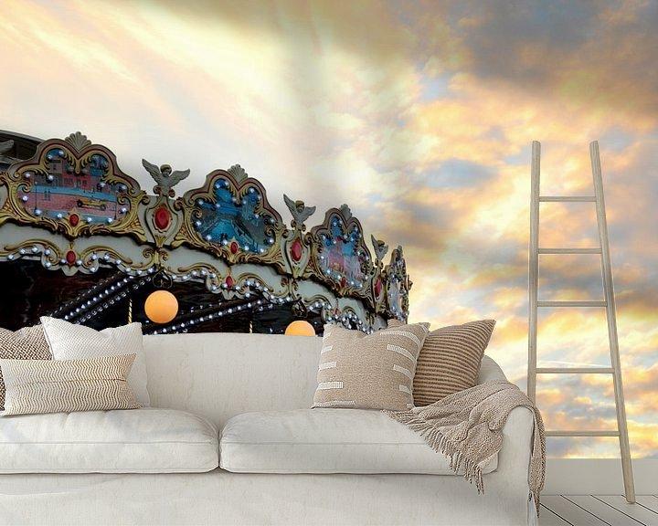 Sfeerimpressie behang: Parijs / Moulin Sunset / Frankrijk van Sabrina Varao Carreiro