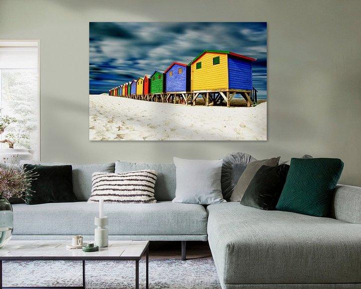 Sfeerimpressie: Muizenberg strandhuisjes in kleur van Heleen van de Ven