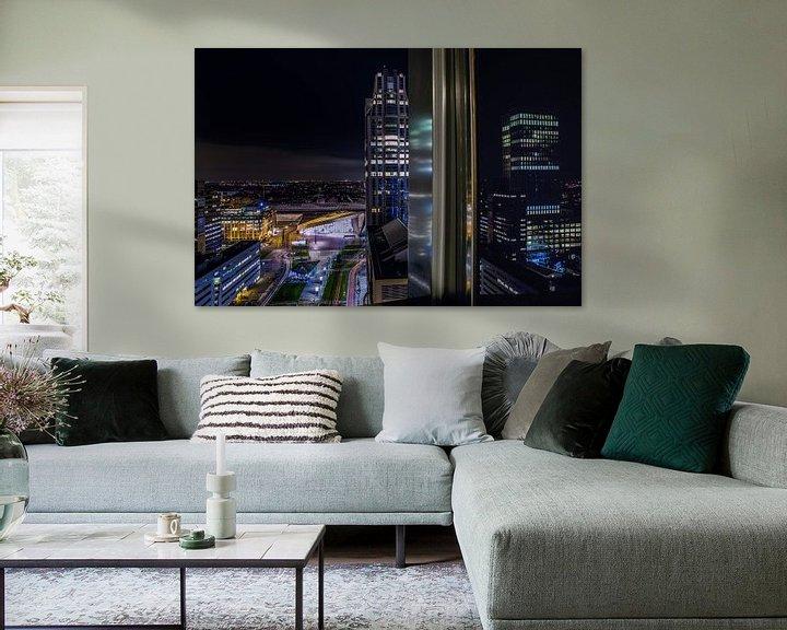 Sfeerimpressie: Rotterdam Architectuur Uitzicht  van Steven Dijkshoorn