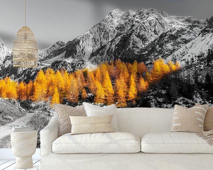 Sfeerimpressie behang: Herfst in de Bergen van Coen Weesjes
