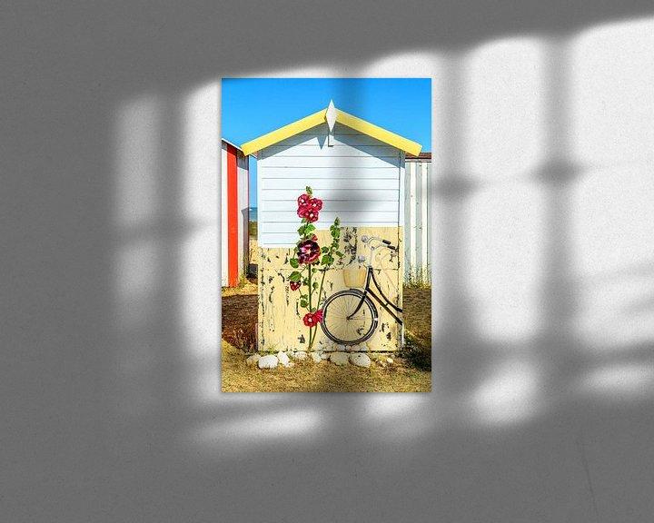 Impression: Cabane de plage sur l'île d'Oléron sur 7Horses Photography