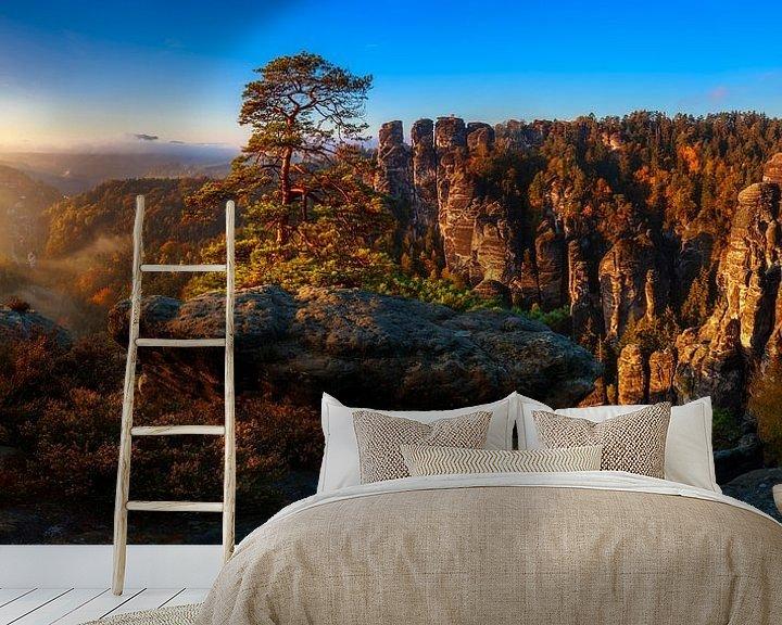 Beispiel fototapete: Blick in die Sächsische Schweiz von Daniela Beyer