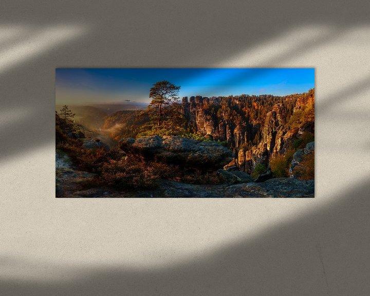 Beispiel: Blick in die Sächsische Schweiz von Daniela Beyer
