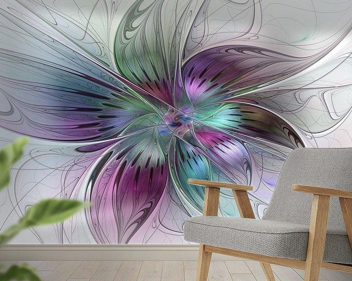 Beispiel fototapete: Fraktal Farbenfrohe Blume abstrakt von gabiw Art