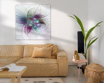 Fraktal Farbenfrohe Blume abstrakt von gabiw Art