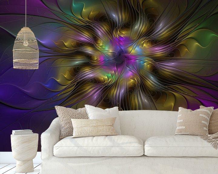 Sfeerimpressie behang: Floral And Colorful Fractal Art van gabiw Art
