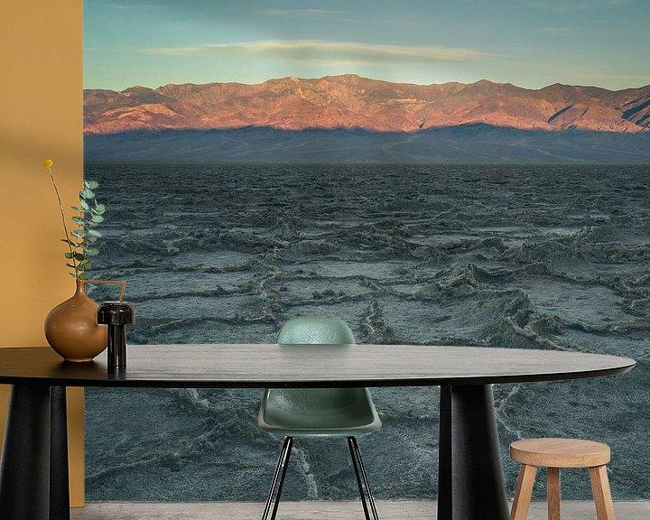 Beispiel fototapete: Badwater Basin at sunrise von Jasper van der Meij