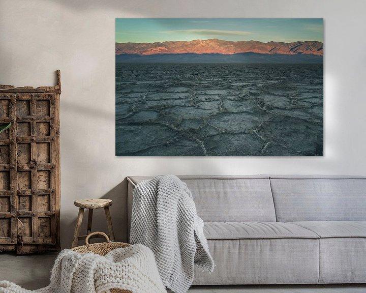 Beispiel: Badwater Basin at sunrise von Jasper van der Meij
