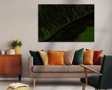 Abstract groen blad van Anja van Deursen
