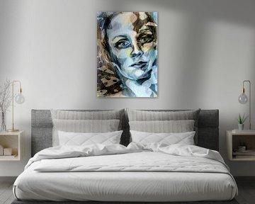 kleurrijk gezicht van een vrouw van ART Eva Maria