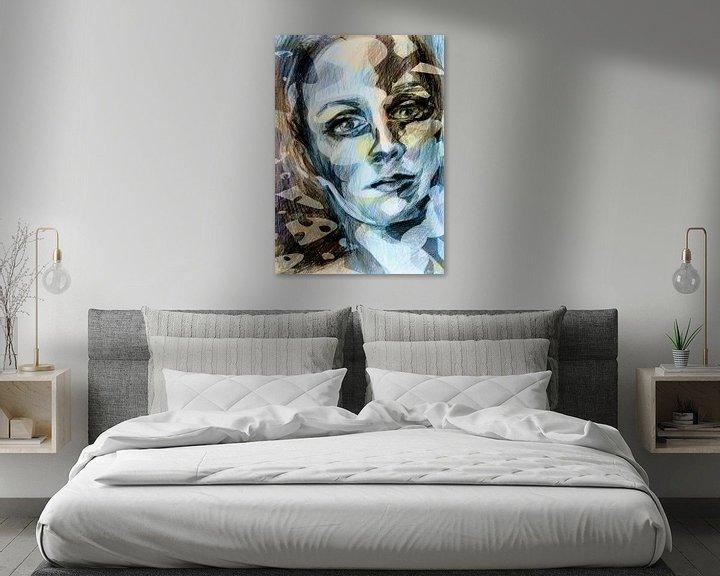 Sfeerimpressie: kleurrijk gezicht van een vrouw van ART Eva Maria