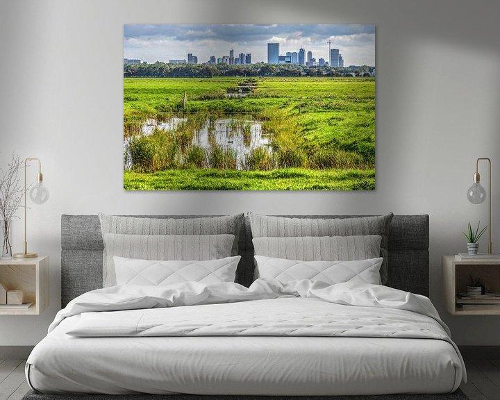 Sfeerimpressie: Rotterdam vanuit de polder van Frans Blok