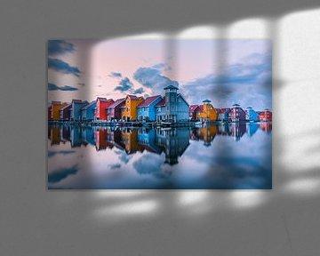 Zonsondergang over de Reitdiephaven 2 van Iconisch Groningen