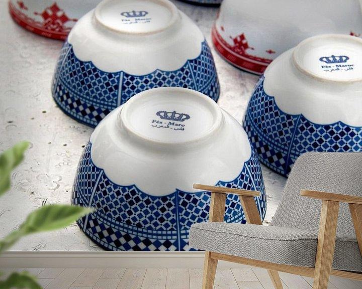 Sfeerimpressie behang: Ceramic Maroc van Liesbeth Govers voor omdewest.com