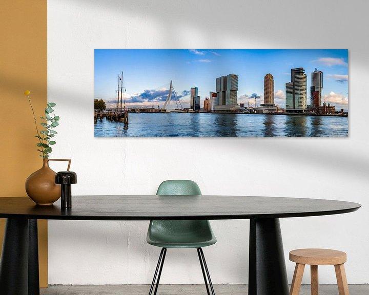 Sfeerimpressie: Panorama Rotterdam Skyline van Sylvester Lobé