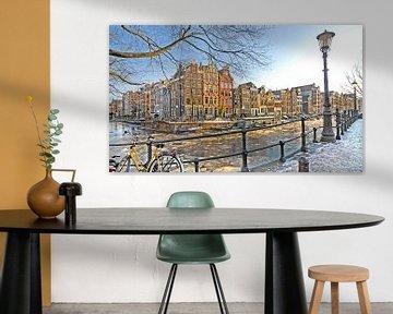 Amsterdam in Winter van Dalex Photography